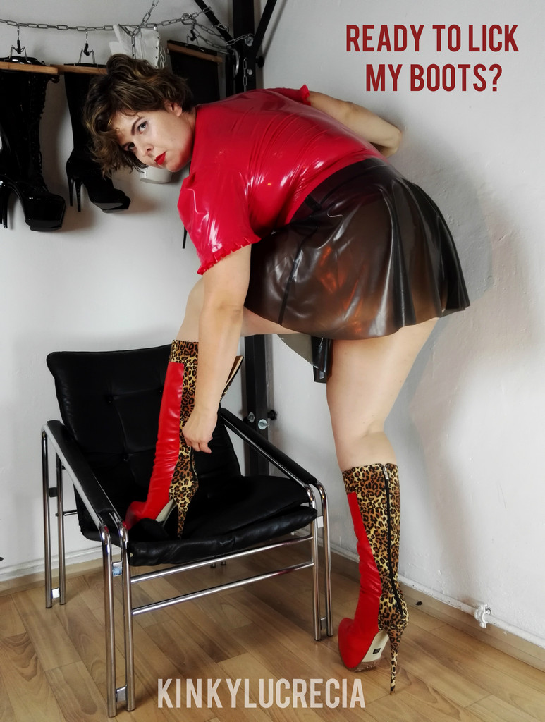 Time fetish for pantyhose boots heels