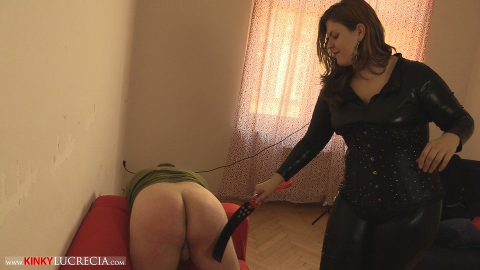 Madam Lucrecia Spanking on the sofa 10