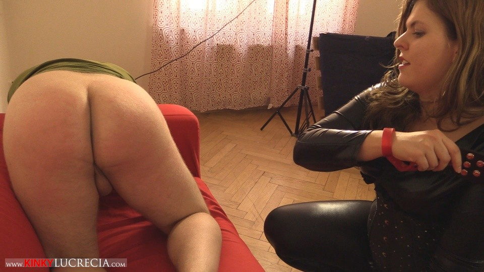 Madam Lucrecia Spanking on the sofa 12
