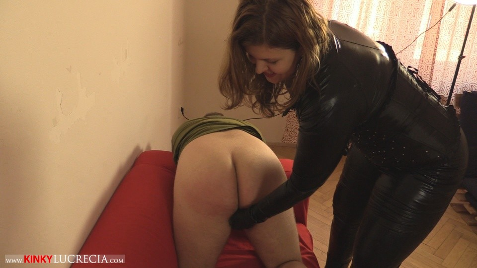 Madam Lucrecia Spanking on the sofa 4