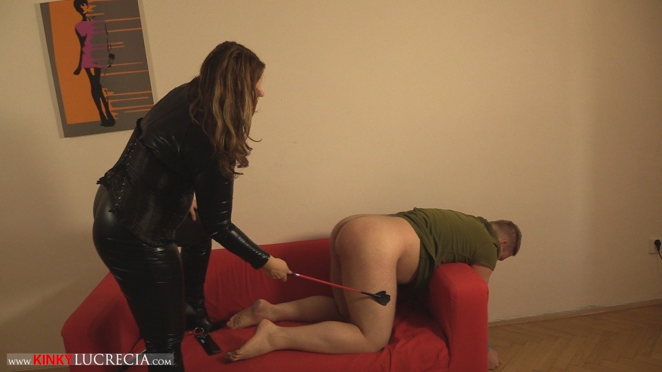 Madam Lucrecia Spanking on the sofa 8