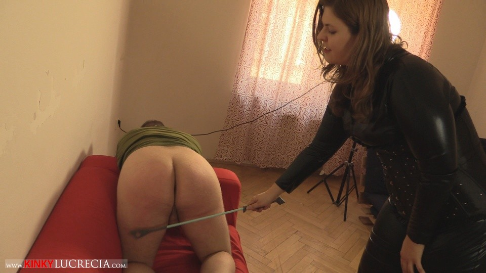 Madam Lucrecia Spanking on the sofa 9